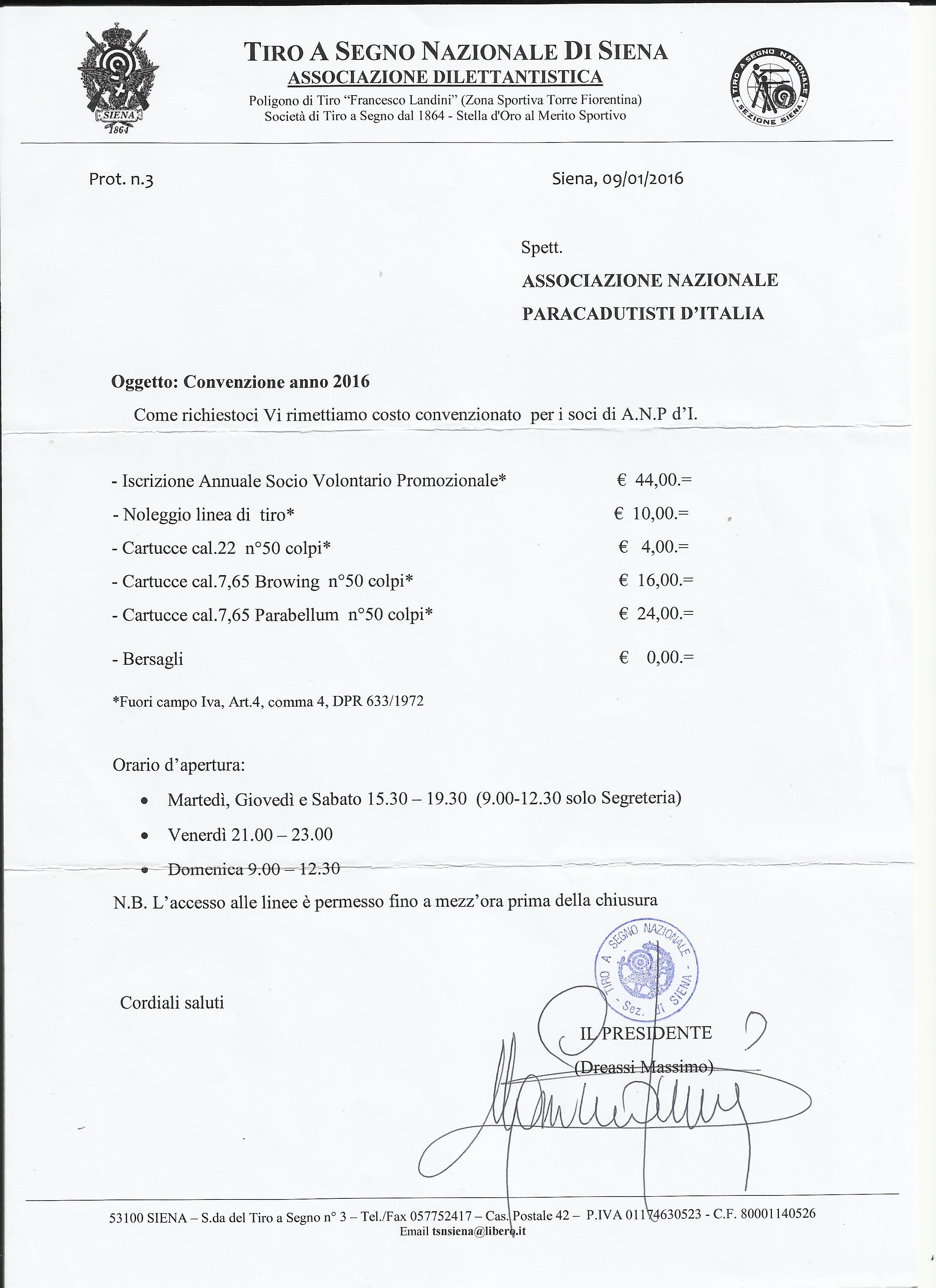 Convenzione ANPd'I TSN Siena